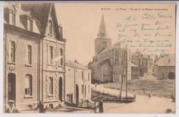 BIEVRE : LA POSTE - L'EGLISE - MAISON COMMUNALE - PHOTO E. DESAIX - CPA ECRITE - 2 SCANS - - Bièvre