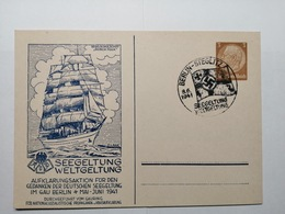 Deutsche Postkarte 1941 Seegeltung Weltgeltung - Duitsland