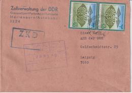 ZKD-Brief Zollverwaltung Grenzzollamt Marienborn An Zimex GmbH Leipzig, 1990 !! - DDR