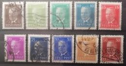 Estonie 1936-1940 / 10 Valeurs/ Used - Estonia