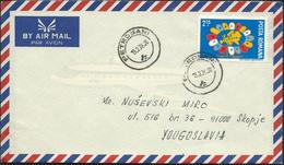 1976 Romania Petrosani Par Avion Letter Via Yugoslavia,Macedonia - Nice Stamp Motive Europa - 1948-.... Republics
