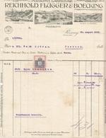 RECHNUNG 1913 Von Der Fa. REICHHOLD FLÜGGER & BOECKING, Firmenlogo Mit Fabriken In Hamburg, Wien+Pozsony, 2 Filler ... - Autriche
