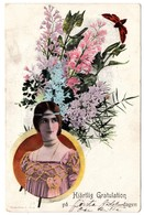 """Cleo De Merode Swedish Edition Flora Serie I No 6 """"Congratulation On Your First Birthday"""" - Danse"""