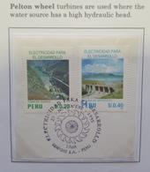 O) 1995 PERU,HYDROELECTRIC POWER GENERATION - ELECTRICITY FOR DEVELOPMENT TOMA HUINCO SC 1130 - ANTACORO LAKE- SC 1131 - Peru