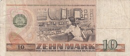 10 MARK DDR Banknote 1971, Umlaufschein - [ 6] 1949-1990: DDR - Duitse Dem. Rep.