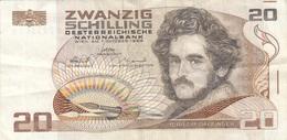 20 SCHILLING ÖSTERREICH 1985 - Banknote Gebraucht, Umlaufschein - Autriche