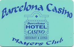 Carte De Membre : Barcelona Casino USA - Cartes De Casino