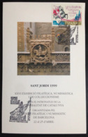 "Spain, Sheetlet, ""Numismatic And Philatelic Event"", ""Sant Jordi 1999"", Barcelona,  1999 - FDC"
