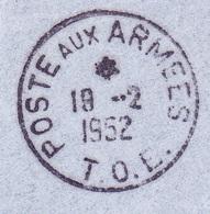 Cachet Postes Aux Armées T.O.E - Marcophilie (Lettres)