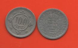 PORTUGAL - 100 REIS 1900 - Portugal