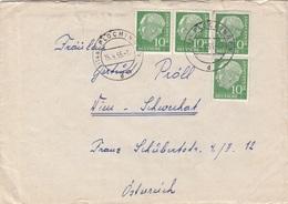 BRD Brief 1955 - 4 Fach Frankiert (Brief Mit Inhalt) - [7] Federal Republic