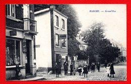 Marche. Grand' Rue. Journaux-Librairie-Papeterie-cartes  Vues. Dentiste. Chaussures Brasselle. 1909 - Marche-en-Famenne