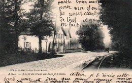 Arlon  Arret Du Tram Au Bois D'arlon  Circulé  En 1905 - Arlon