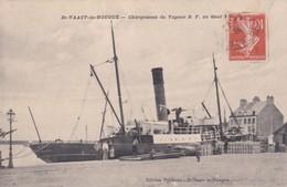 ST  VAAST LA HOUGUE  D50  CHARGEMENT DU VAPEUR - Saint Vaast La Hougue