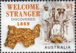 2019 AUSTRALIA GOLD Nugget WELCOME STRANGER VERY FINE POSTALLY USED $1 SHEET STAMP - Oblitérés