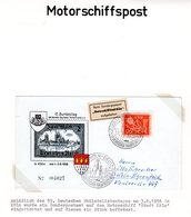 BRD 1958, Motor Schiffspost Zum 69 Dt. Philatelistentag, Brief V.  Köln-Deutz - Stamps
