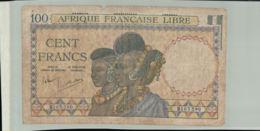 Billet De Banque    AFRIQUE FRANCAISE  LIBRE 100 Francs CONGO  1941 Serie B1 03580 -Janv 2020 Clas - Afrique Du Sud