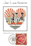 Carte Maximum YT 3861 Coeur Saint-Valentin S. Rolland Pour Jean-Louis Scherrer, 1er Jour 07 01 2006 Paris 75 TBE - Maximumkarten