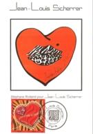 Carte Maximum YT 3862 Coeur Saint-Valentin S. Rolland Pour Jean-Louis Scherrer, 1er Jour 07 01 2006 Paris 75 TBE - Maximumkarten