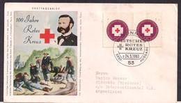 Deustche Bundespost - 1963 - FDC - Centenaire De La Croix-Rouge Internationale - Croix-Rouge