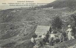 """/ CPA FRANCE 06 """"Peira Cava, Les Granges, Excursionnistes"""" - Autres Communes"""