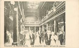 """CPA MONACO """"souvenir De Monte Carlo, Les Moutons Dans L'atrium Du Casino"""" - Monte-Carlo"""