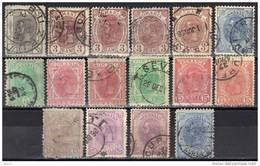 Roumanie Lot De 17 Timbres Entre Les N° 99 Et 136 - 1881-1918: Charles Ier