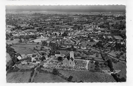 (RECTO / VERSO) QUETTEHOU EN 1955 - VUE AERIENNE GENERALE - PILOTE PHOTOGRAPHE RAY DELVERT - BEAU TIMBRE - FORMAT CPA - Frankreich