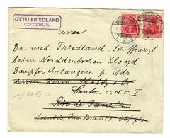 Brief Westerland/Cottbus Nach Rio De Janeiro  1913 - Alemania