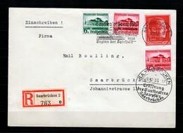 DR: MiNr. 673/74 FDC-Ersttag, Einschreiben Saarbrücken Theater, 2 Versch.Stempel - Non Classificati