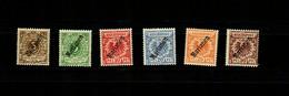 Marianen MiNr. 1-6 II, *, Leichter Falz - Colony: Mariana Islands