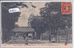 PARIS- TOUT PARIS- FF 955- XII E- RUE MICHEL BIZOT- PRISE DE LA PLACE DE LA RUEMONTEMPOIVRE- PONT DU METRO - Lots, Séries, Collections