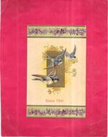 CPA COLORISEE FETE GAUFREE - BONNE FETE - Vol D'Oiseau - 300120 - - Birthday