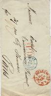 1868- Enveloppe D'Allemagne Avec Entrée : 2 TOUR-T 2 ERQUELINES   Bleu - Poststempel (Briefe)