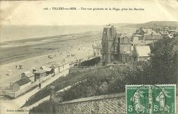 14  VILLERS SUR MER - UNE VUE GENERALE DE LA PLAGE - PRISE DES MARCHES (ref 8095) - Villers Sur Mer