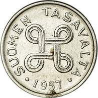 Monnaie, Finlande, Markka, 1957, TTB, Nickel Plated Iron, KM:36a - Finlande