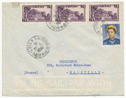 VIETNAM ENV 1951 SAIGON RP LETTRE AVION => FRANCE - Viêt-Nam