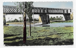 (RECTO / VERSO) PONTAUBAULT EN 1962 - N° 6 - LE PONT NORMANDIE BRETAGNE - BEAU CACHET - PETITS PLI  - FORMAT CPA VOYAGEE - Autres Communes