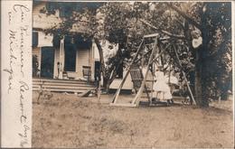 ! Alte Fotokarte, Photo, 1910, Schaukel, Sommer Resort In Michigan, Chicago, USA, Flensburg - Etats-Unis