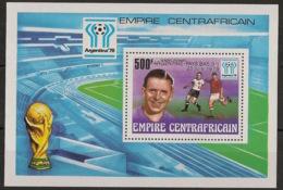 Centrafricaine - 1978 - Bloc Feuillet BF N°Yv. 27 - Football World Cup Argentina 78 - Neuf Luxe ** / MNH / Postfrisch - República Centroafricana