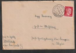 Deutsches Reich / 1943 / Stegstempel SKALUNG (Oberschlesien) Auf Brief (5636) - Germania