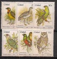 Ciskei - 1981 - N°Yv. 16a à 21a - Oiseaux - Neuf Luxe ** / MNH / Postfrisch - Ciskei