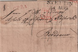 Preussen / 1825 / Vorphila-Transitbrief L2 STETTIN Nach Bordeaux (5642) - Germany