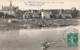 49 Bouchemaine Vue Sur La Plage Cpa Cachet Tireté 1918 Griffe T Taxe - Frankrijk
