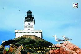 Set 6 Cartes Postales, Phares, Lighthouses Of Europe, France, Ajaccio, Le Phare Des Iles Sanguinaires - Vuurtorens