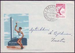 Finland - 1952 D - Olympic Games 1952 - Cover  (letter K) - Estate 1952: Helsinki