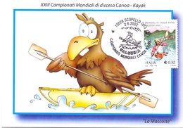 WORLD CANOE CHAMPIONSHIPS KAYAK  SCOPELLO MAXIMUM POST CARD  (GENN201340) - Kano