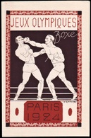 France - 1924 D - Olympic Games 1924 - Stationery Card  (boxing) - Estate 1924: Paris