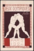 France - 1924 E - Olympic Games 1924 - Stationery Card  (wrestling) - Estate 1924: Paris