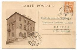 BELLEGARDE CARTE PRIVEE ETS BOUCHE TABLEAUX RECLAME 1940 - Bellegarde-sur-Valserine